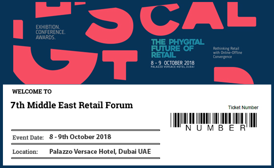 MIDDLE EAST RETAIL FORUM 2018 TICKET